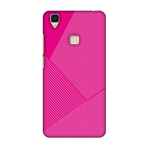 Carbon Fibre Redux Hot Pink 1 Slim Hard Shell Case For Vivo V3