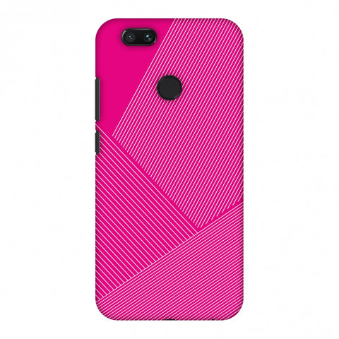 Carbon Fibre Redux Hot Pink 1 Slim Hard Shell Case For Xiaomi MI A1-5X
