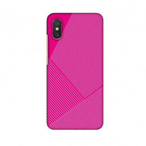 Carbon Fibre Redux Hot Pink 1 Slim Hard Shell Case For Xiaomi Mi 8 Pro