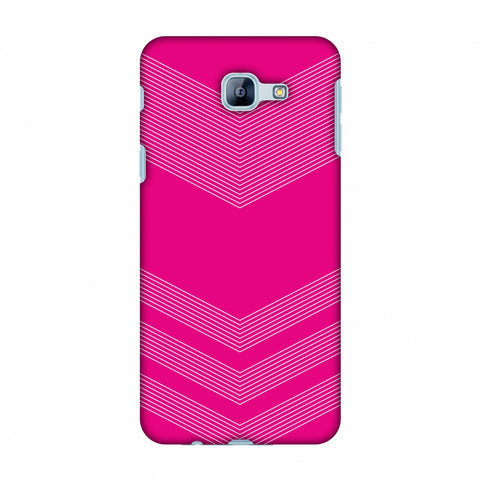 Carbon Fibre Redux Hot Pink 2 Slim Hard Shell Case For Samsung Galaxy A8 2016
