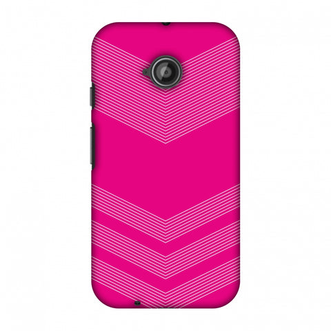 Carbon Fibre Redux Hot Pink 2 Slim Hard Shell Case For Motorola Moto E 2nd Gen