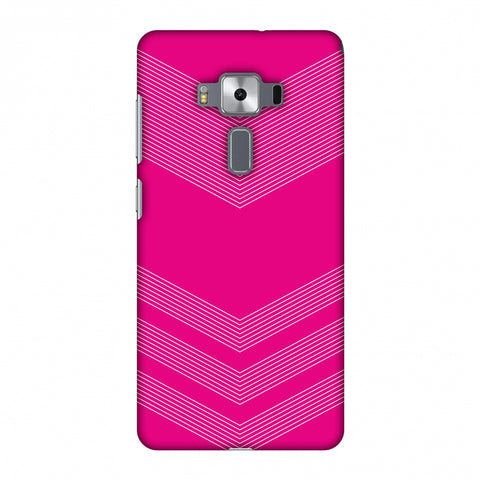 Carbon Fibre Redux Hot Pink 2 Slim Hard Shell Case For Asus Zenfone 3 Deluxe ZS570KL