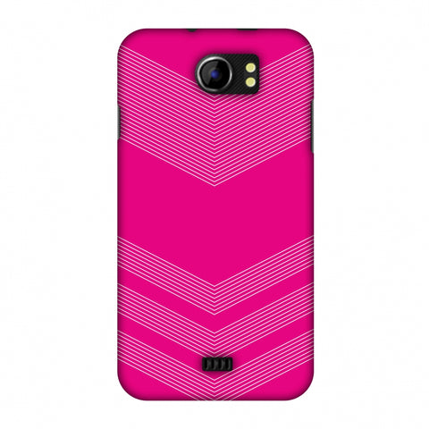 Carbon Fibre Redux Hot Pink 2 Slim Hard Shell Case For Micromax Canvas 2 A110