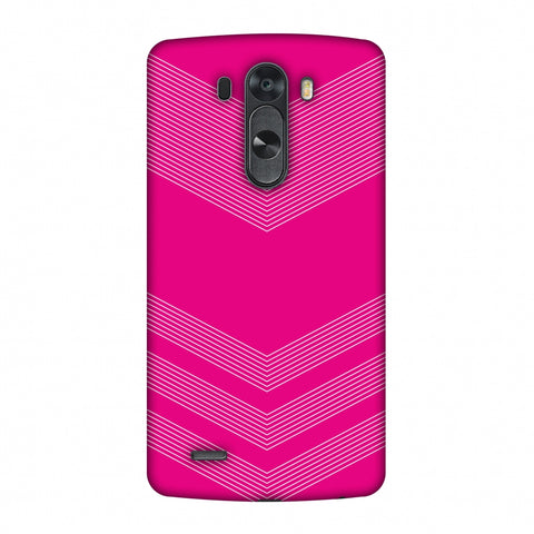 Carbon Fibre Redux Hot Pink 2 Slim Hard Shell Case For LG G4