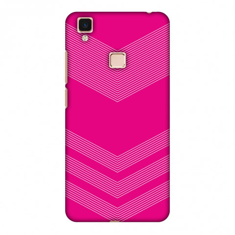 Carbon Fibre Redux Hot Pink 2 Slim Hard Shell Case For Vivo V3 Max