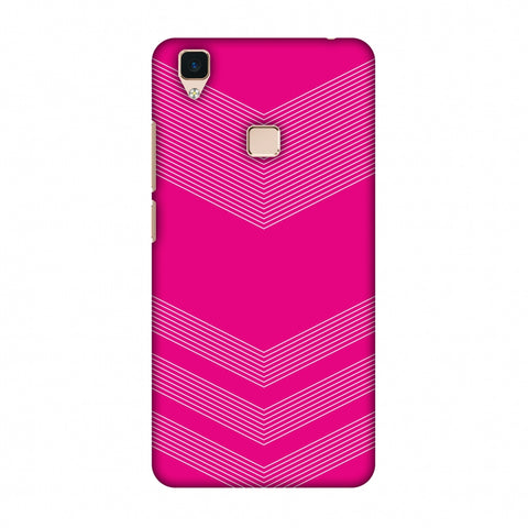 Carbon Fibre Redux Hot Pink 2 Slim Hard Shell Case For Vivo V3