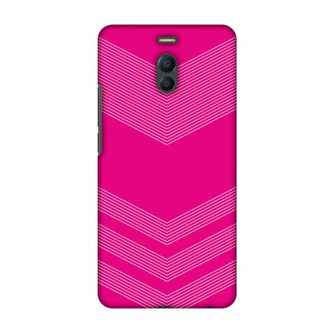Carbon Fibre Redux Hot Pink 2 Slim Hard Shell Case For Meizu Note 6