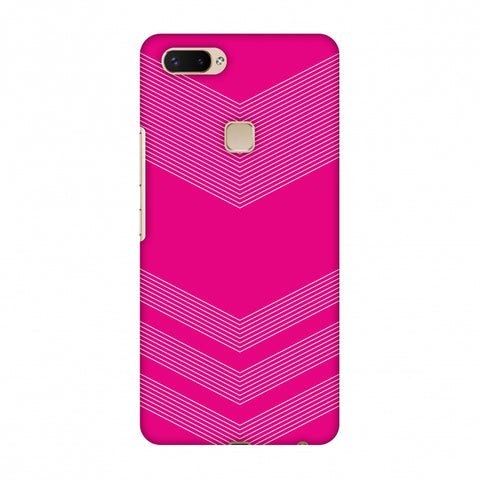 Carbon Fibre Redux Hot Pink 2 Slim Hard Shell Case For Vivo X20 Plus