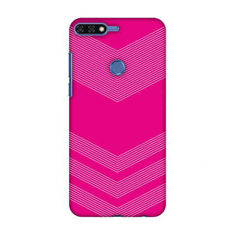 Carbon Fibre Redux Hot Pink 2 Slim Hard Shell Case For Huawei Honor 7C