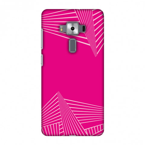 Carbon Fibre Redux Hot Pink 3 Slim Hard Shell Case For Asus Zenfone 3 Deluxe ZS570KL
