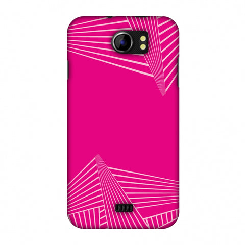 Carbon Fibre Redux Hot Pink 3 Slim Hard Shell Case For Micromax Canvas 2 A110