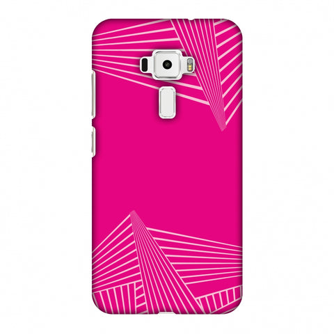 Carbon Fibre Redux Hot Pink 3 Slim Hard Shell Case For Asus Zenfone 3 ZE520KL