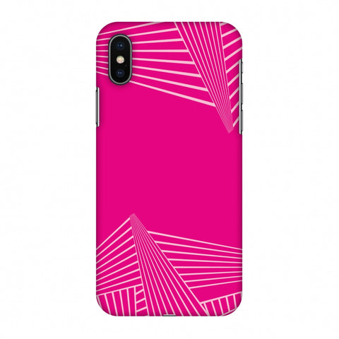 Carbon Fibre Redux Hot Pink 3 Slim Hard Shell Case For Apple iPhone X