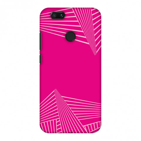 Carbon Fibre Redux Hot Pink 3 Slim Hard Shell Case For Xiaomi MI A1-5X