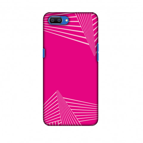 Carbon Fibre Redux Hot Pink 3 Slim Hard Shell Case For Oppo Realme C1