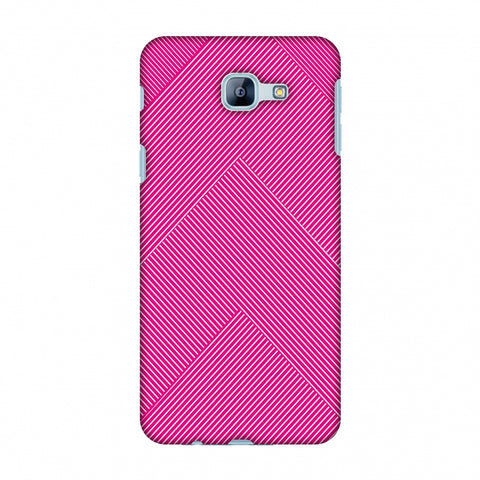 Carbon Fibre Redux Hot Pink 4 Slim Hard Shell Case For Samsung Galaxy A8 2016