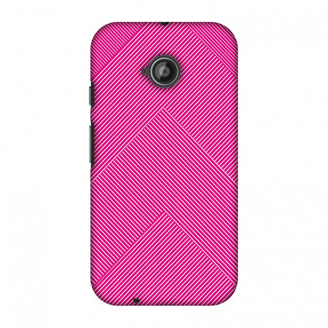 Carbon Fibre Redux Hot Pink 4 Slim Hard Shell Case For Motorola Moto E 2nd Gen