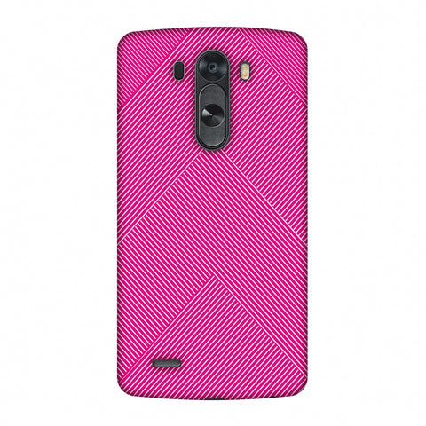 Carbon Fibre Redux Hot Pink 4 Slim Hard Shell Case For LG G4