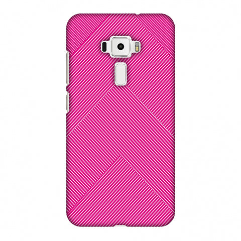 Carbon Fibre Redux Hot Pink 4 Slim Hard Shell Case For Asus Zenfone 3 ZE520KL