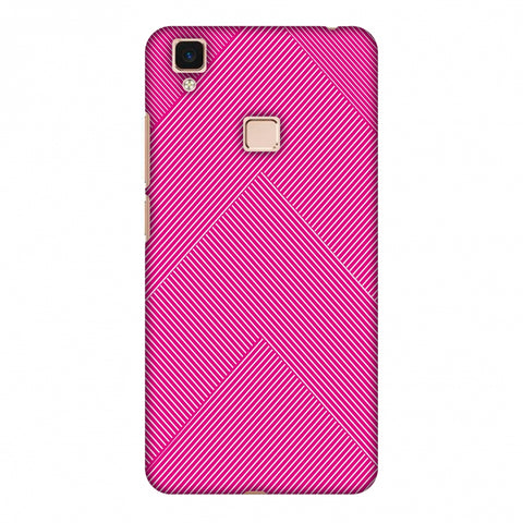 Carbon Fibre Redux Hot Pink 4 Slim Hard Shell Case For Vivo V3 Max