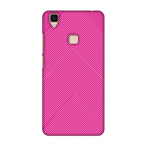 Carbon Fibre Redux Hot Pink 4 Slim Hard Shell Case For Vivo V3