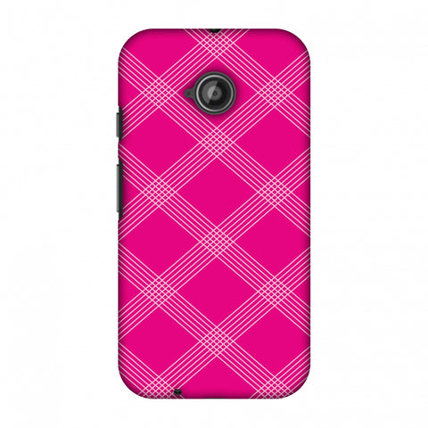 Carbon Fibre Redux Hot Pink 5 Slim Hard Shell Case For Motorola Moto E 2nd Gen