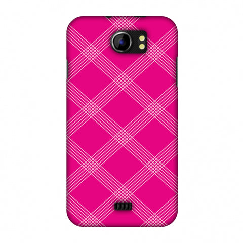 Carbon Fibre Redux Hot Pink 5 Slim Hard Shell Case For Micromax Canvas 2 A110