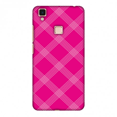Carbon Fibre Redux Hot Pink 5 Slim Hard Shell Case For Vivo V3 Max