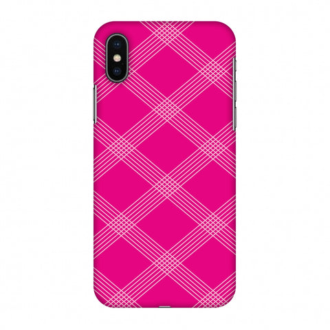 Carbon Fibre Redux Hot Pink 5 Slim Hard Shell Case For Apple iPhone X