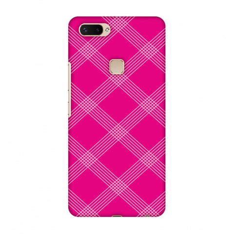 Carbon Fibre Redux Hot Pink 5 Slim Hard Shell Case For Vivo X20 Plus