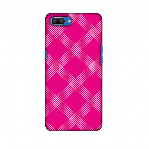 Carbon Fibre Redux Hot Pink 5 Slim Hard Shell Case For Oppo Realme C1