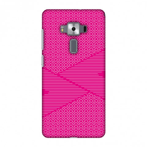 Carbon Fibre Redux Hot Pink 6 Slim Hard Shell Case For Asus Zenfone 3 Deluxe ZS570KL