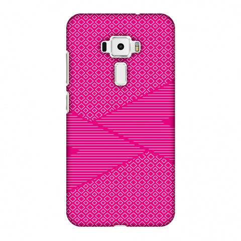 Carbon Fibre Redux Hot Pink 6 Slim Hard Shell Case For Asus Zenfone 3 ZE520KL