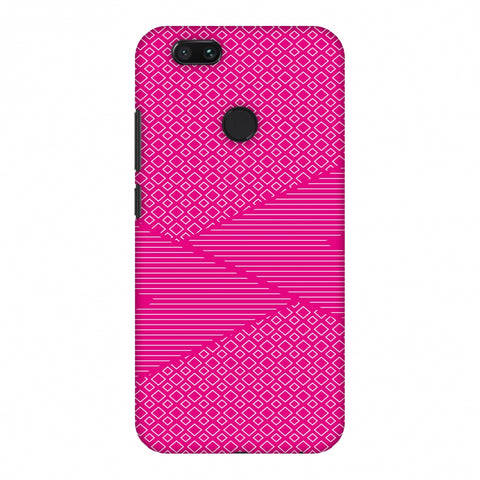 Carbon Fibre Redux Hot Pink 6 Slim Hard Shell Case For Xiaomi MI A1-5X