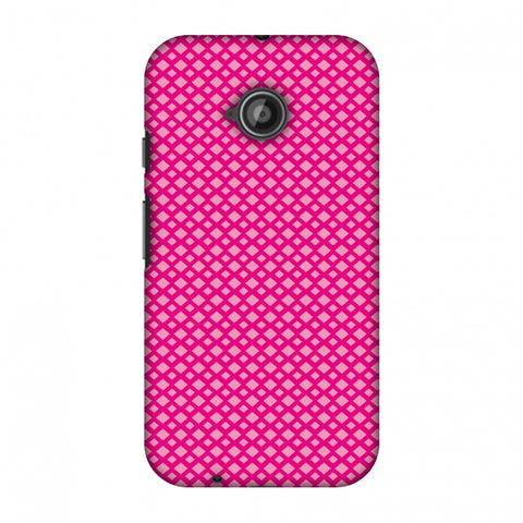 Carbon Fibre Redux Hot Pink 7 Slim Hard Shell Case For Motorola Moto E 2nd Gen