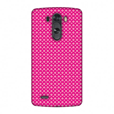 Carbon Fibre Redux Hot Pink 7 Slim Hard Shell Case For LG G4