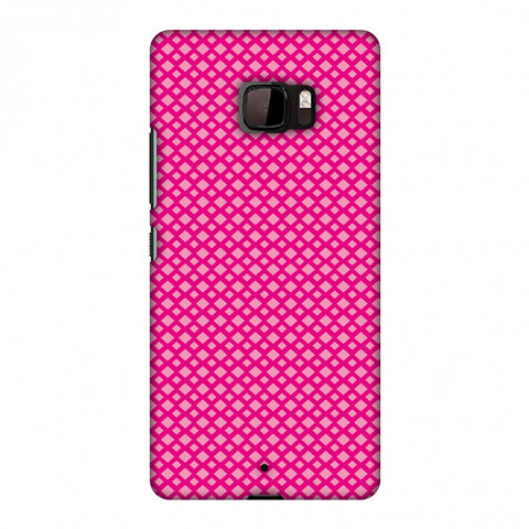 Carbon Fibre Redux Hot Pink 7 Slim Hard Shell Case For HTC U Ultra