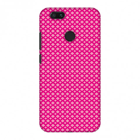 Carbon Fibre Redux Hot Pink 7 Slim Hard Shell Case For Xiaomi MI A1-5X