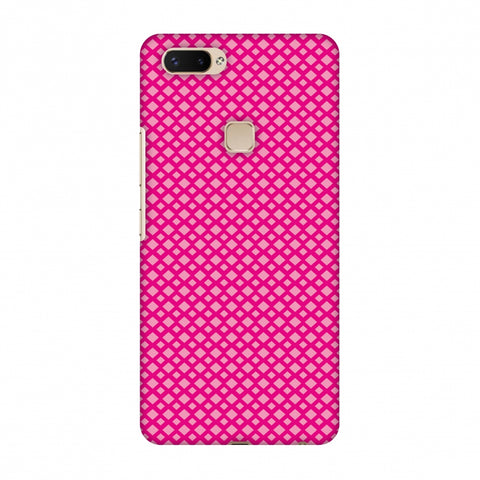 Carbon Fibre Redux Hot Pink 7 Slim Hard Shell Case For Vivo X20 Plus
