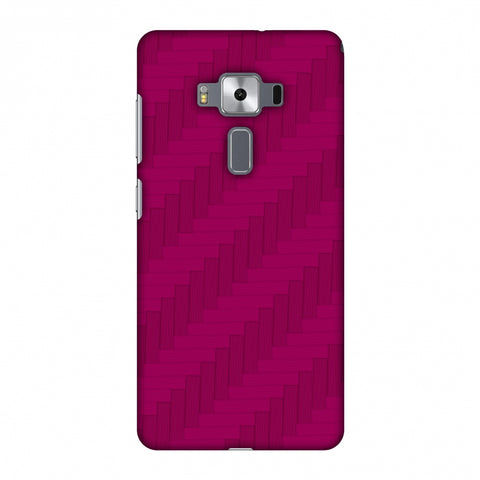 Carbon Fibre Redux Hot Pink 8 Slim Hard Shell Case For Asus Zenfone 3 Deluxe ZS570KL