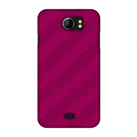 Carbon Fibre Redux Hot Pink 8 Slim Hard Shell Case For Micromax Canvas 2 A110