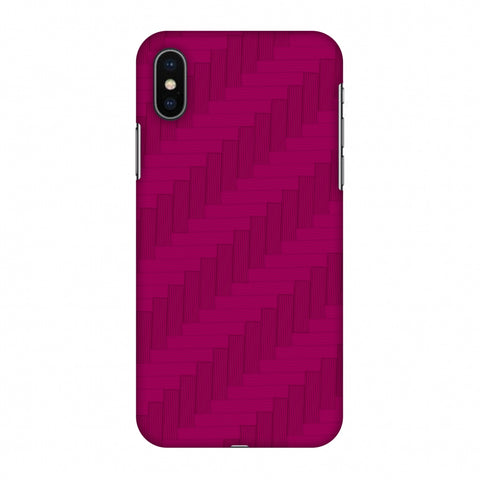 Carbon Fibre Redux Hot Pink 8 Slim Hard Shell Case For Apple iPhone X