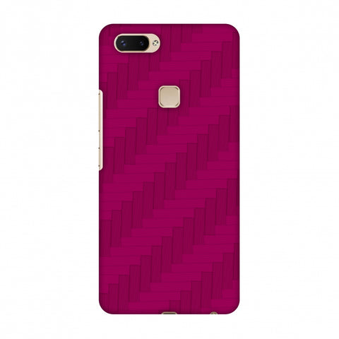 Carbon Fibre Redux Hot Pink 8 Slim Hard Shell Case For Vivo X20 Plus