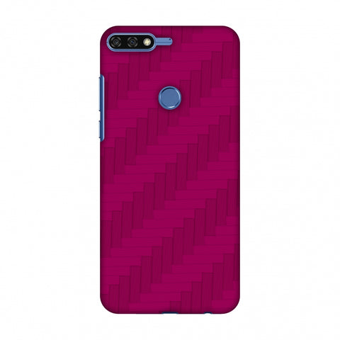 Carbon Fibre Redux Hot Pink 8 Slim Hard Shell Case For Huawei Honor 7C