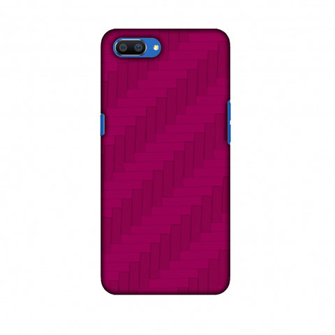 Carbon Fibre Redux Hot Pink 8 Slim Hard Shell Case For Oppo Realme C1