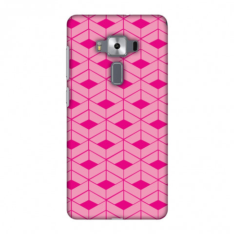 Carbon Fibre Redux Hot Pink 9 Slim Hard Shell Case For Asus Zenfone 3 Deluxe ZS570KL