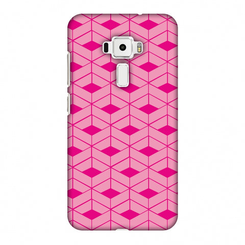 Carbon Fibre Redux Hot Pink 9 Slim Hard Shell Case For Asus Zenfone 3 ZE520KL