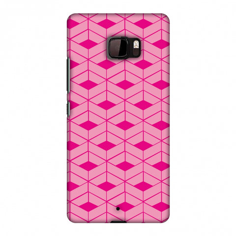 Carbon Fibre Redux Hot Pink 9 Slim Hard Shell Case For HTC U Ultra