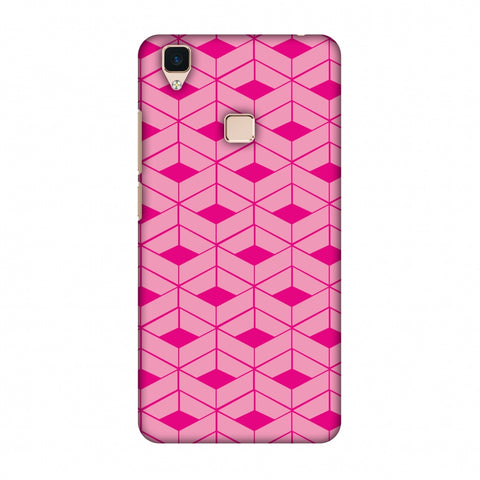 Carbon Fibre Redux Hot Pink 9 Slim Hard Shell Case For Vivo V3