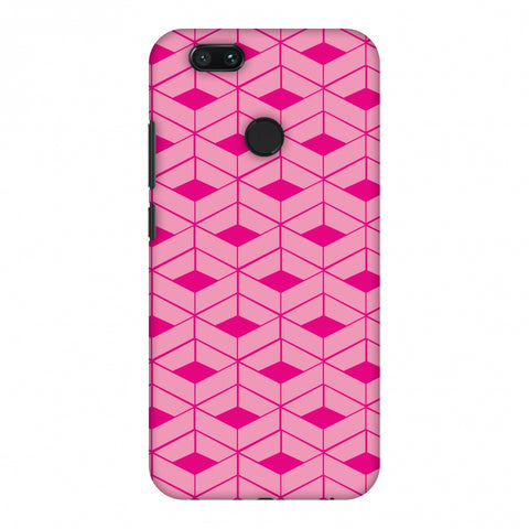 Carbon Fibre Redux Hot Pink 9 Slim Hard Shell Case For Xiaomi MI A1-5X